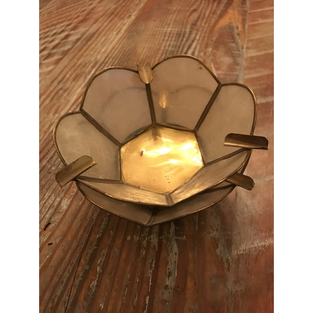 Vintage Lotus Brass Candle Holders - A Pair - Image 4 of 9