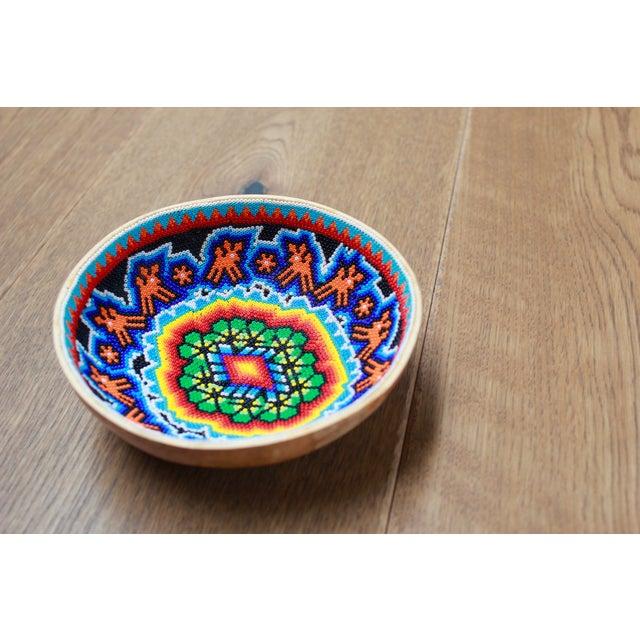 Huichol Ceremonial Beaded Bowl - Image 2 of 5