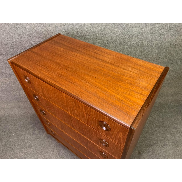 Brown Vintage Danish Mid Century Modern Teak Gentleman's Chest Dresser For Sale - Image 8 of 10