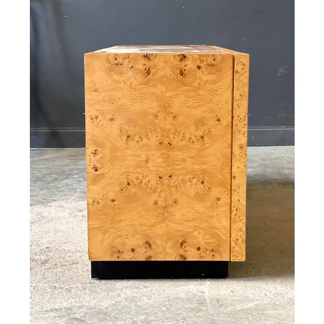 Milo Baughman for Thayer Coggin Vintage Milo Baughman Burl Wood Credenza For Sale - Image 4 of 13