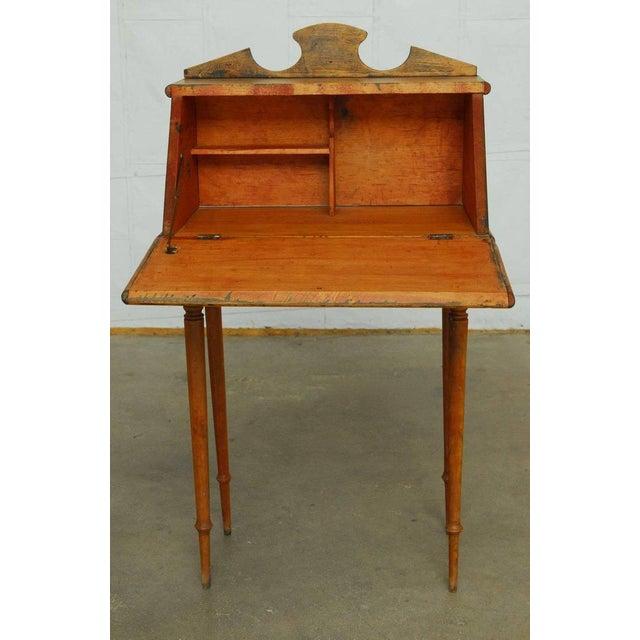 Pine 19th Century Diminutive Pine Slant Front Desk For Sale - Image 7 of 11