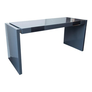 Modern Parsons Lacquered Two-Drawer Desk