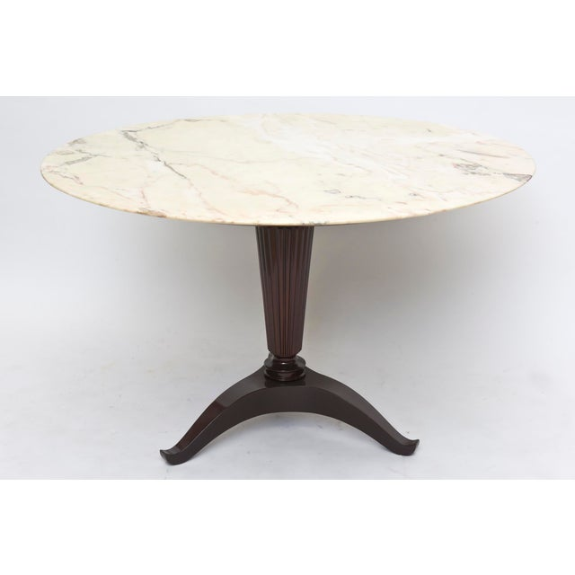 Modern Italian Modern Onyx and Walnut Center or Dining Table by Paolo Buffa For Sale - Image 3 of 9