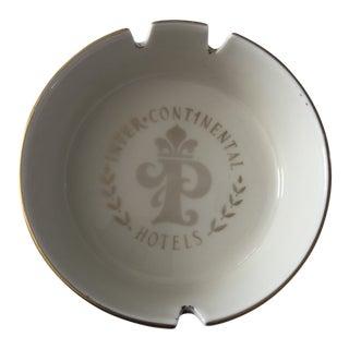 Vintage 1980s Paris Intercontinental Hotels Ceramic Ashtray For Sale