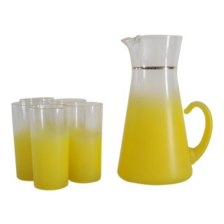 Blendo Yellow Drink Set - Set of 6 For Sale