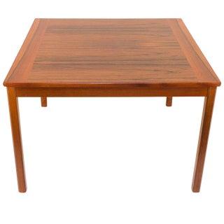 Teak and Jacaranda Scandinavian Modern Side Table For Sale