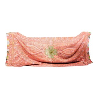 19th Century Large French Kashmiri Wool Textile Throw For Sale
