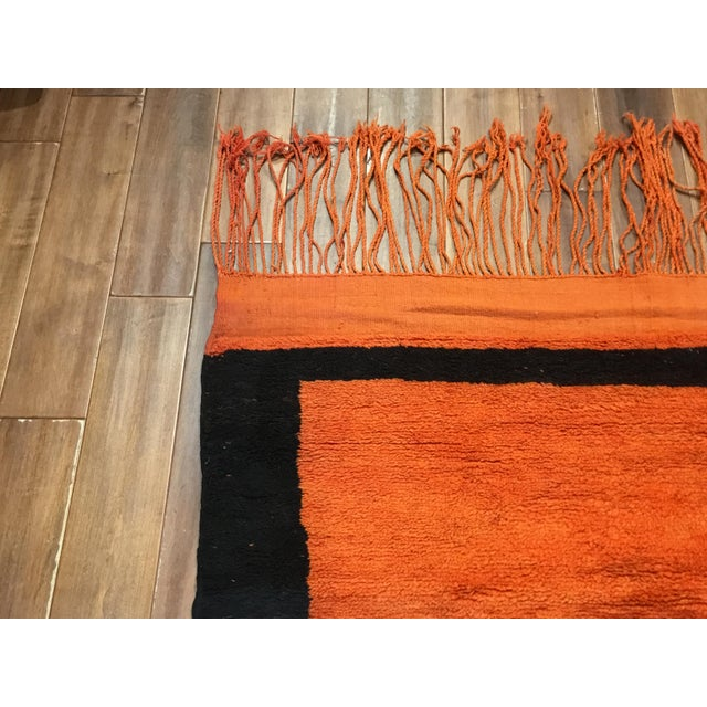 Mid-Century Vintage Moroccan Carpet - 8′ × 11′8″ For Sale - Image 4 of 5