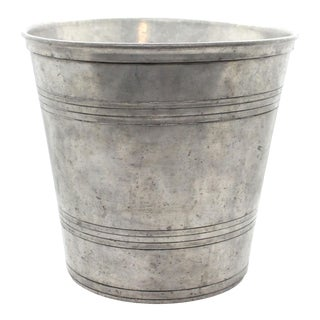 Match Italian Pewter Waste Bin/Cachepot/Wine Bucket For Sale