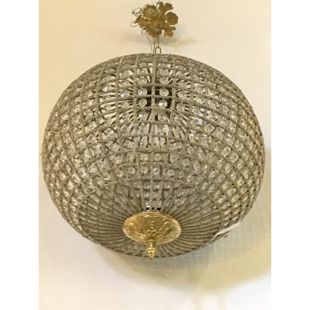 Globe Pendant Chandeliers - A Pair For Sale - Image 4 of 10