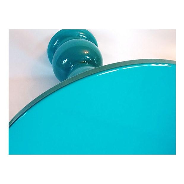 Teal Lacquer Bistro Table - Image 6 of 8