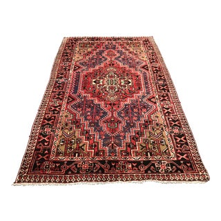 Vintage Persian Hand-Knotted Rug - 4′9″ × 7′11″