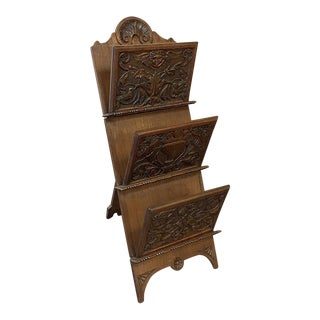 Mid 19th Century Carved Tripod Letter Holder For Sale