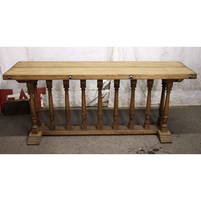 Spindle Leg Wooden Table For Sale - Image 4 of 6