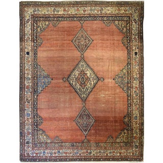 Antique Persian Bakshaish Carpet For Sale