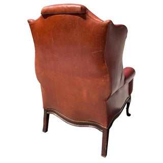 1940s Vintage Leather Wingback Chair Preview
