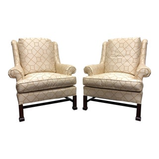 Hickory Chair Historic James River Collection Marlborough Leg Lounge Chairs For Sale