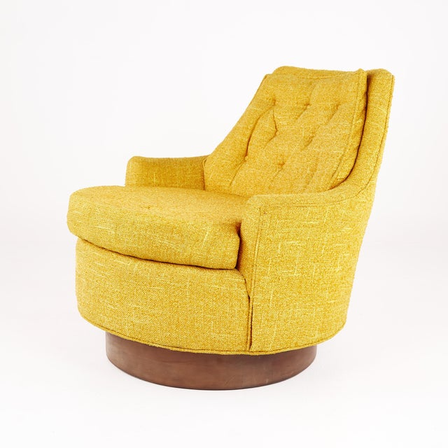 Mid-Century Modern Adrian Pearsall Style Mid Century Swivel Lounge Chair For Sale - Image 3 of 10