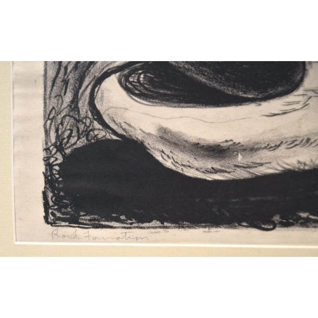 Emerson Woelffer Graphite on Paper, 'Rock Formation' C 1950s For Sale - Image 4 of 6
