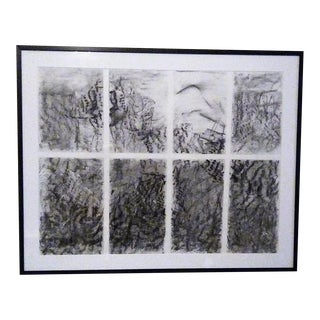 Abstract/Asian-Inspired Landscape Styled Graphite Drawing For Sale