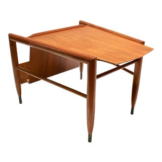 Mid-Century Magazine Side Table by John Keal for Brown-Saltman For Sale