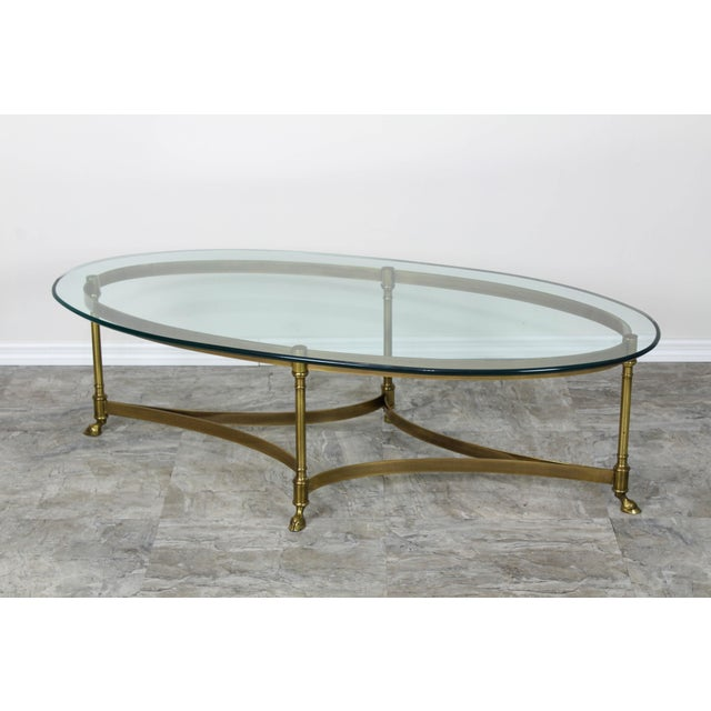 Mid Century Labarge Brass Coffee Table, Brass Coffee Table For Sale In Miami - Image 6 of 12