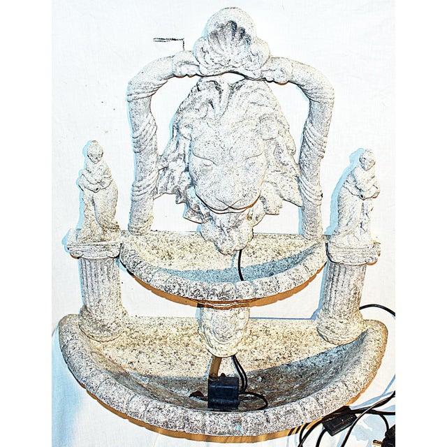 Italian 1970s Italian Lion Lavabo Wall Fountain For Sale - Image 3 of 6