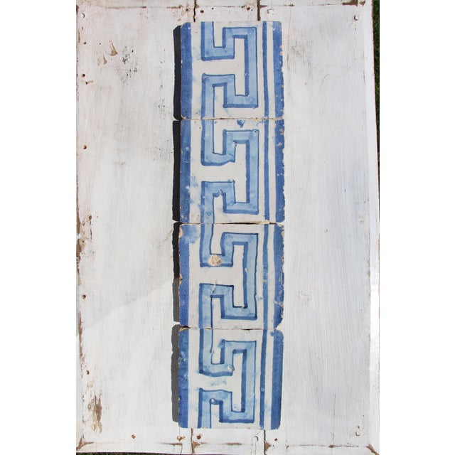 18th Century Greek Style Baroque Tiles - Set of 4 For Sale - Image 4 of 13