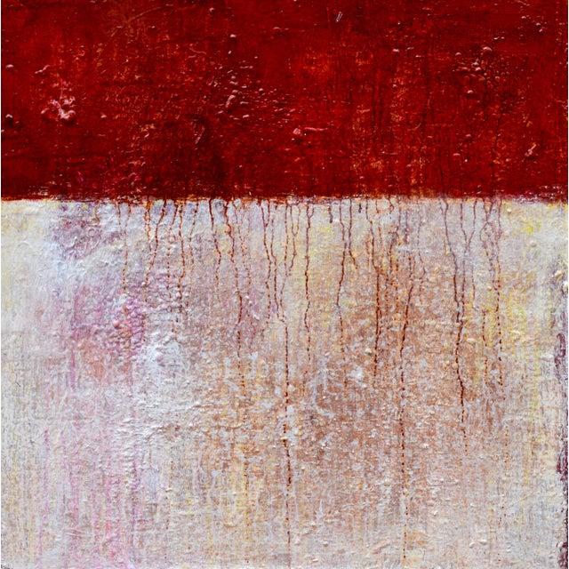 Crimson Abstract Acrylic Painting Chairish