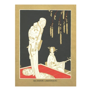 Art Deco Japanese Dance Lithograph by Benito