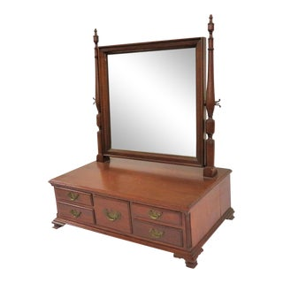 Chippendale Walnut Shaving Mirror For Sale