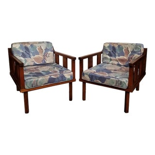 Mid Century Modern Pearsall Style Club Chairs- a Pair For Sale