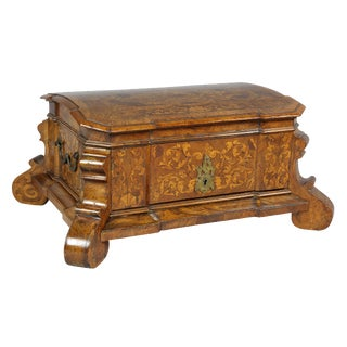 Dutch Rococo Walnut and Marquetry Document Box For Sale