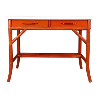 Parzinger Attributed Student's Desk by Willow and Reed For Sale