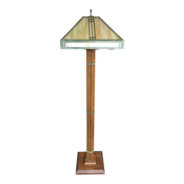 Arts Crafts Floor Lamp by Warren Hile For Sale