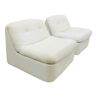 Vintage Contemporary Modern Slipper Chairs For Sale