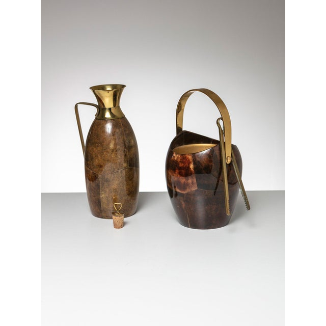 Mid-Century Modern Ice Bucket and Pitcher by Aldo Tura For Sale - Image 3 of 5