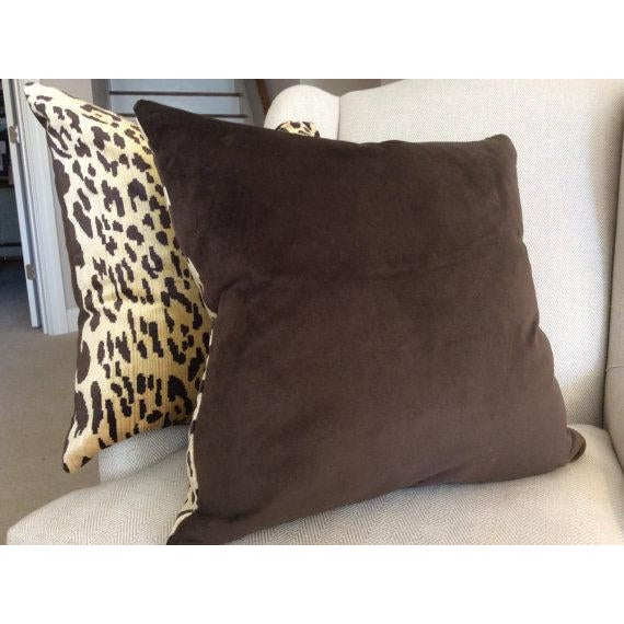 Not Yet Made - Made To Order Contemporary Scalamandre Pillow Covers in Silk Velvet Leopardo - a Pair For Sale - Image 5 of 5