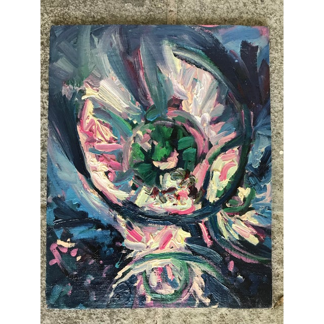 2000 - 2009 Paul Dinwiddie Mid-Century Style Abstract Painting For Sale - Image 5 of 5