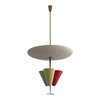 1950s Mid-Century Modern Stilnovo Pendant Light For Sale