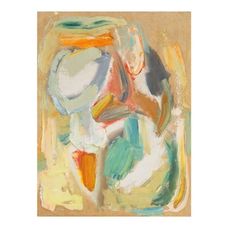 'Abstract in Rust and Jade' by Dora Masters, Mid-Century California Modernist Woman Artist, San Francisco Art Association For Sale