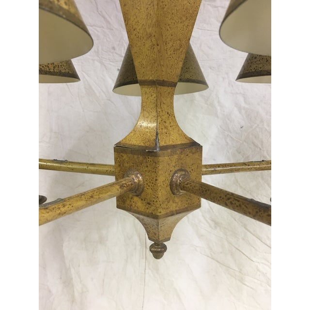French Toleware 5 Arm Chandelier For Sale - Image 4 of 7