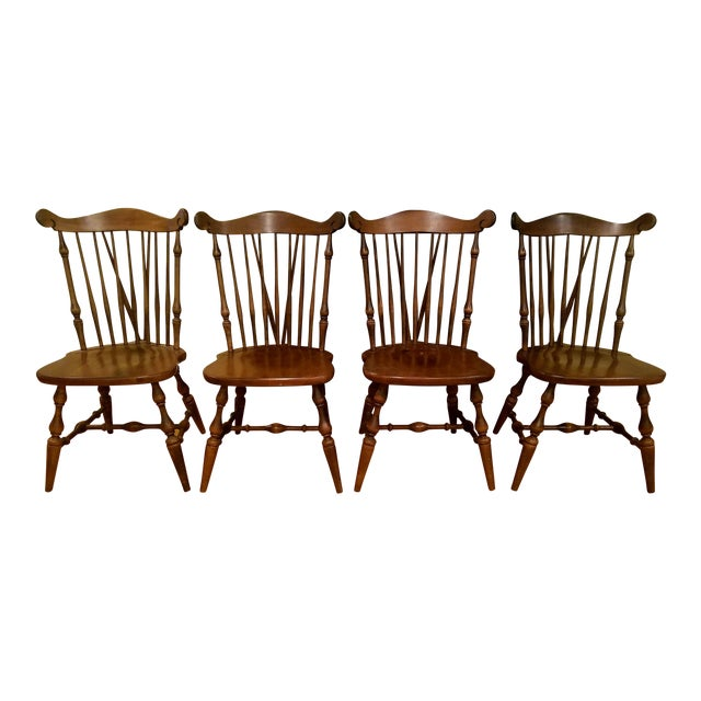 Temple Stuart Maple Dining Chairs - Set of 4 For Sale