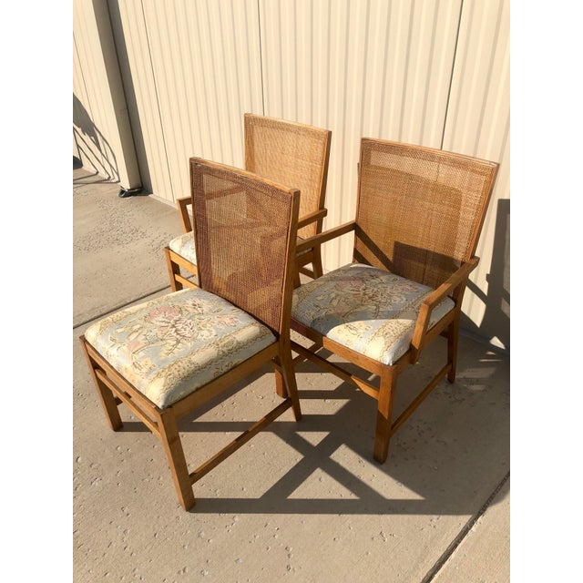 Mid 20th Century Michael Taylor for Baker Style Cane Back Dining Chairs - Set of 3 For Sale - Image 5 of 13
