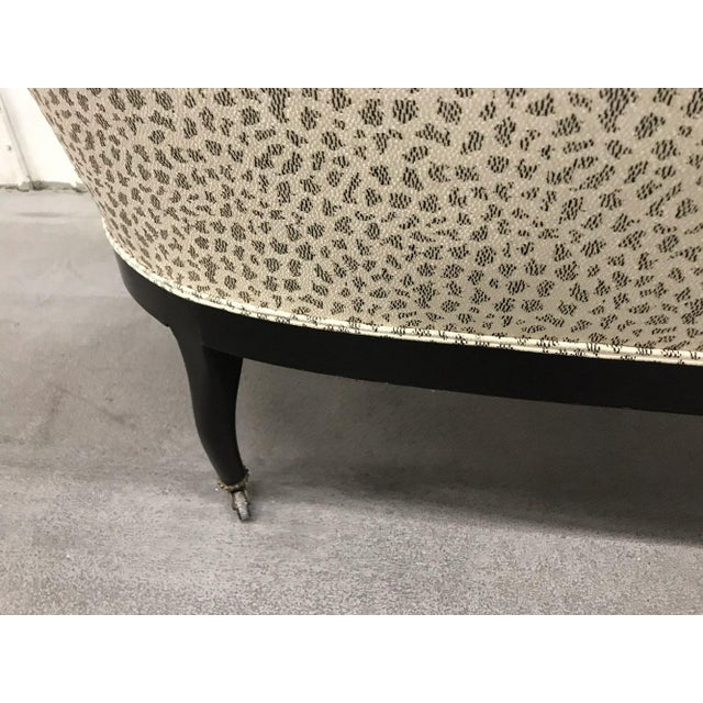 Antique Settee With Contemporary Upholstery For Sale - Image 9 of 12