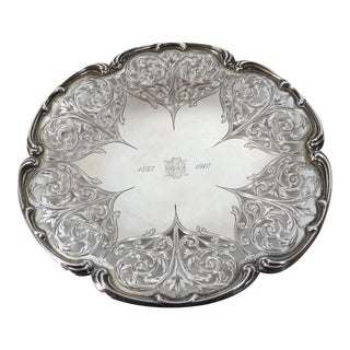 Antique Sterling Silver Bon Bon Serving Dish For Sale