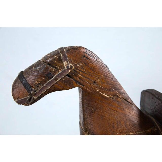 American Folk Art Child's Rocking Horse, Circa 1900 For Sale - Image 4 of 8
