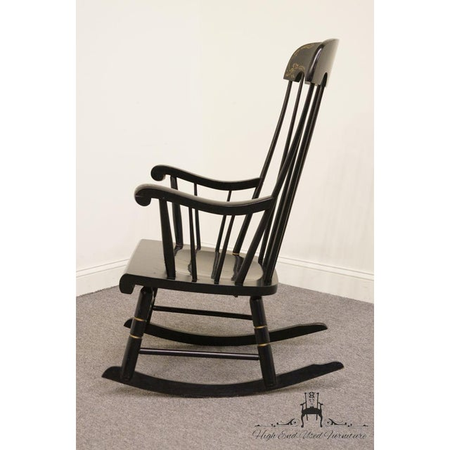Tell City Black and Gold Hitchcock Style Rocking Chair For Sale In Kansas City - Image 6 of 10