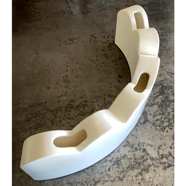 EDGERS are hand-crafted glazed ceramics in the Memphis style (21 x 5.3 x 7 ins. each). They can function either as...