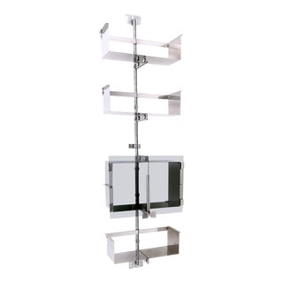 Wall Mounted Modular Shelving Unit by Vittorio Introini for Saporiti, Italy ,1969 For Sale